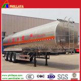 Dei 3 assi di alluminio della lega o dell'acciaio inossidabile del combustibile di autocisterna del camion rimorchio semi per trasporto dell'olio