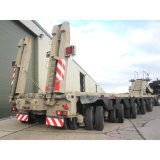 3개의 차축 긴 장비 수송 확장 가능한 트레일러