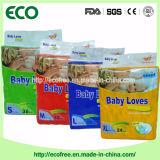 Une couche-culotte remplaçable de bébé d'absorption élevée douce superbe de pente de Chine