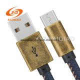 Denim-kupfernes Schild USB-Kabel (Type-c2.0)
