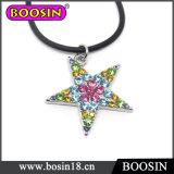 Commercio all'ingrosso di cristallo scintillante #14269 della collana di fascino della stella fortunata