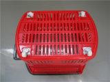 panier à provisions 48L en plastique avec des roues