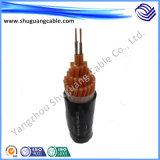 Изолированный PVC и обшил экранированный кабель системы управления для угольной шахты