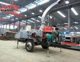 時間のディーゼル機関の移動可能な木製の砕木機ごとの3tons