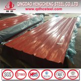 El panel acanalado galvanizado colorido de la azotea de la hoja PPGI del material para techos