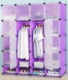 거실 옷장 내각 판매, 옷 걸이 폴란드 의 싼 접히는 PP 위원회 DIY 침실 옷장 (EP-06)를 가진 플라스틱 옷장