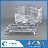 Armazenamento de Metal Dobrável Galvanizado Rust-Preventing gaiola de transporte