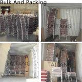 Bookrackと使用される金属教会椅子をスタックする熱い販売法