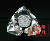 De Klok van het Glas van het kristal van de Decoratie van de Lijst van de Presse-papier
