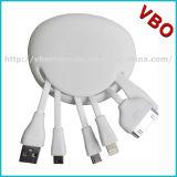 Hot Vente de câble de chargement USB Silicon 4 en 1