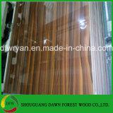 18mm食器棚のドアの木製の穀物MDFのための光沢度の高い紫外線MDFのパネル