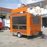 Chariots mobiles de nourriture de déjeuner à vendre, camion Jy-B18 de vente de nourriture