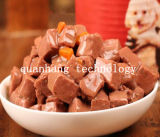 Говядина в масляной ванне и консервированные овощи угловые резы основную часть собака продовольственной