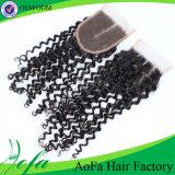 Estensione riccia crespa naturale dei capelli umani di 100%/estensione brasiliana dei capelli del Virgin/capelli umani
