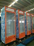 Refrigerador de cristal de la visualización del refresco de la sola puerta con el sistema de enfriamiento dinámico