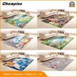 カスタム子供の漫画の枕元毛布の漫画の印刷の床のマット。 新しいデザインメッシュ生地、カスタムプリントが付いている洗濯できるEco-Froendlyの漫画の床のマット