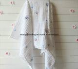 """La coperta controllata della mussola del cotone Swaddle 47X47 """" in stampa differente"""