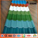 Plaque enduite d'aluminium de matériau de construction de couleur