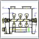 Horizontal polvo seco Blender Máquina (doble eje de tipo de paletas)