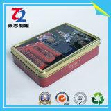 Vierecks-Zinn-Kasten, verpackende Blechdose, Geschenk-Metallzinn