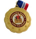 Médaille d'émail d'emblème en métal de placage avec la bande