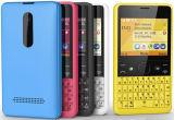 Déverrouillé pour le téléphone cellulaire de clavier QWERTY de Nokia Asha 210