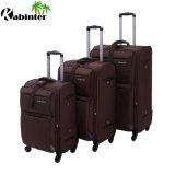 Insieme di nylon dei bagagli dei bagagli del Manufactory della Cina del sacchetto 4 delle rotelle del sacchetto molle di corsa