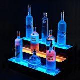 アクリルのワインの表示アルコール飲料のびんの陳列台をつける高品質LED