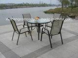 Jardín de ocio moderno mesas y sillas de comedor Muebles de exterior de acero