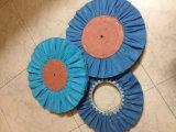 扱われた青い航空路の磨く車輪