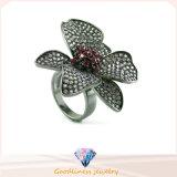 Mooie Uitstekende kwaliteit 925 de Zilveren Ring In het groot R10454 van de Bloem van de Charme van de Stijl van CZ