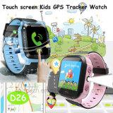 タッチスクリーンSosは照明D26のスマートなGPSの追跡者の腕時計をからかう
