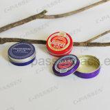 Малая круглая алюминиевая жестяная коробка с крышкой выскальзования (опарник skincare cream)