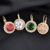 Het Goud van de Juwelen van de manier om de Oorringen van het Meisje in Bergkristal wordt geplateerd dat