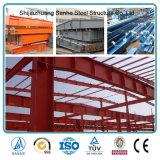 Armazém pré-fabricado claro da construção de aço do projeto da construção para a vertente do armazenamento