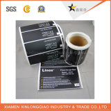 Etiqueta engomada adhesiva de la impresora del epóxido del código de barras de la escritura de la etiqueta de papel abovedada clara de la etiqueta