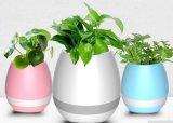 LED BluetoothのスピーカーおよびLEDライトが付いているスマートな音楽植木鉢
