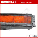 Processo de secagem de novo revestimento de superfície industrial de queima de gás infravermelho