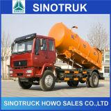 Sinotruk Popular HOWO 4*2 depósito de aspiración de aguas residuales de camiones cisterna
