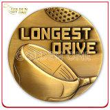 Moneda grabada 3D de encargo del latón de la antigüedad de la alta calidad