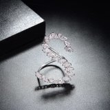 금에 의하여 도금되는 입방 지르코니아 형식 보석 창조적인 유일한 S 편지 보석 반지