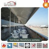 De gebruikte Dubbele Tent van de Partij van het Dek met de Muren van het Glas voor Restaurant