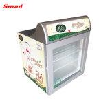 Congelador do gelado do congelador de vidro do indicador da parte superior contrária da porta mini