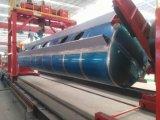 Tri-Welle 45000 Liter Aluminiumlegierung-Öltanker-Schlussteil-Kraftstofftank-Sattelschlepper-