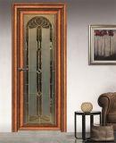 アルミニウムプロフィール木カラーヒンジのドア