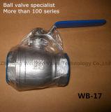 Válvula de bola media del flotador de la presión del acero inoxidable de 2PC Corea