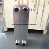 고용량 냉각하는 R22/R410A 격판덮개 냉각기 구리에 의하여 놋쇠로 만들어지는 격판덮개 열교환기