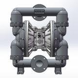 """3つは""""作動させた二重ダイヤフラムポンプステンレス鋼の空気によってフランジを付けたようになった"""