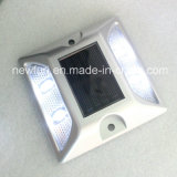Branco / Amarelo Solar 4/6 flash LED reflexiva Estrada Stud