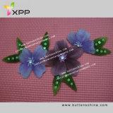003 Colorido colar de flores tecido de renda química
